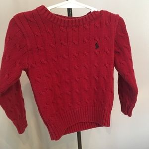 Polo Ralph Lauren Red Sweater 3T EUC